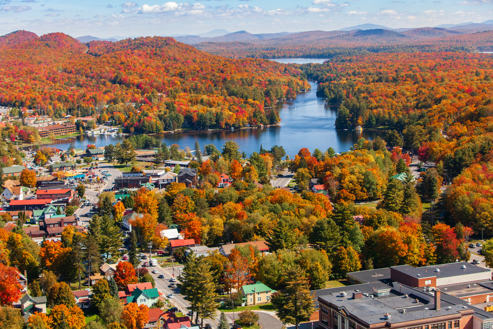 Old  Forge Ny Main St Fall Photography Art | Kurt Gardner Photogarphy