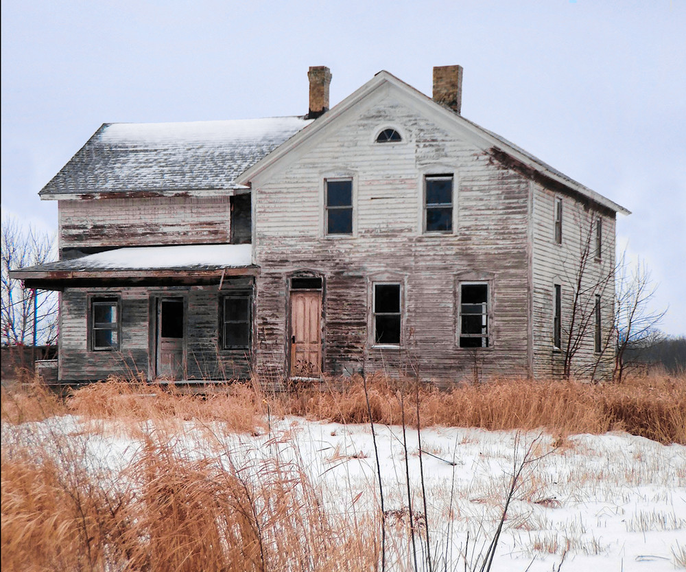 Winter Foreclosure Photography Art   Mark Stall IMAGES