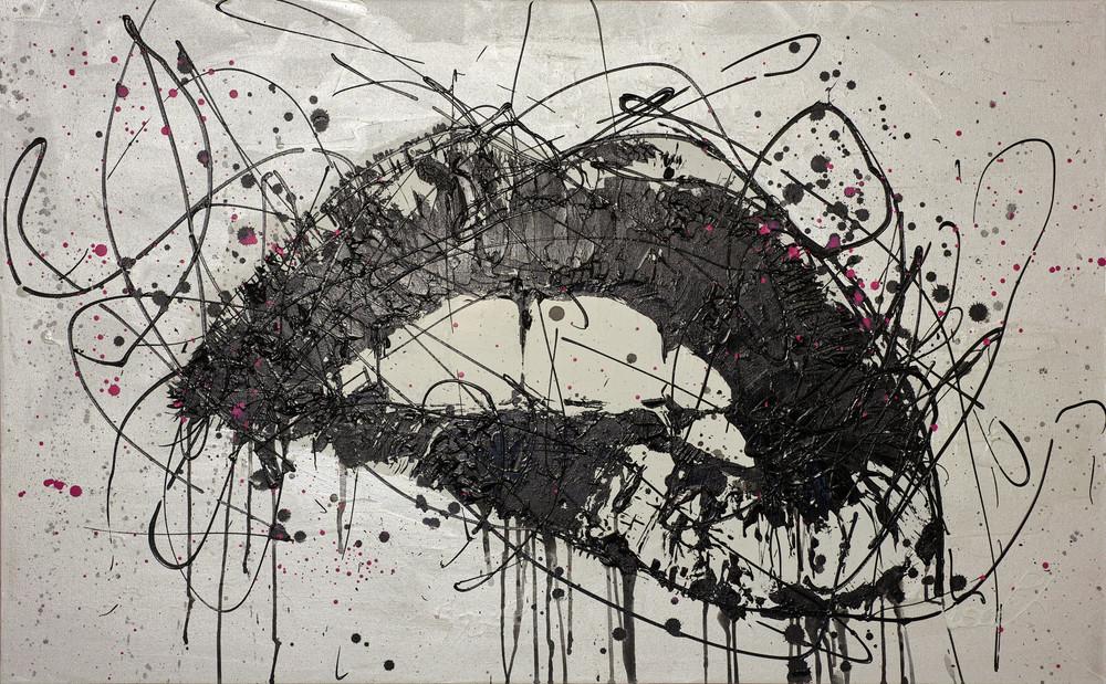 Fuschia Lips Art   Asaph Maurer