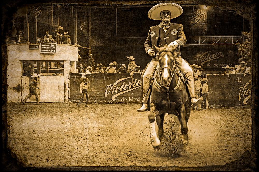 A Vaquero in a rodeo in Guanajuato, Mexico