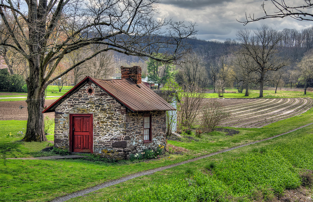 Spring at the Bathhouse - Bucks County - Michael Sandy Photography