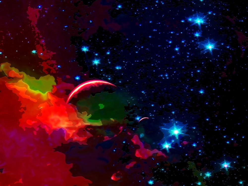 Space Fantasy Art - Cloud Nest  - Don White Art Dreamer