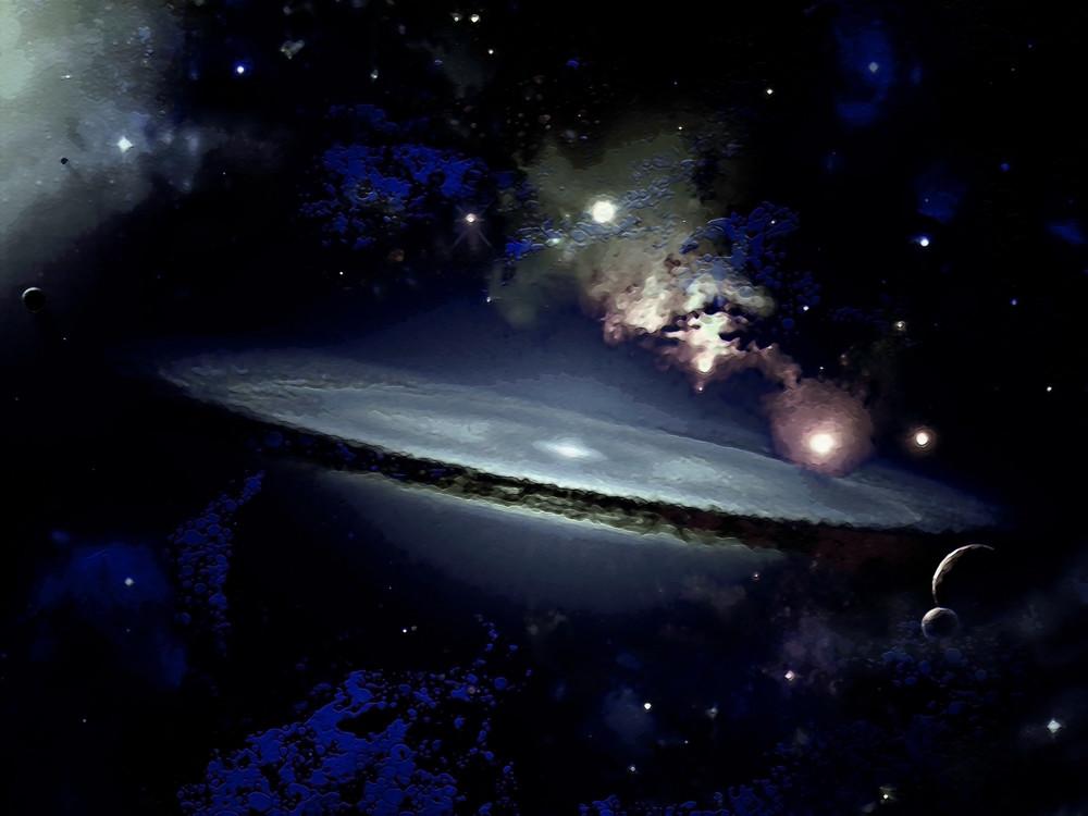 Space Fantasy Art - Cold Galaxy - Don White Art Dreamer