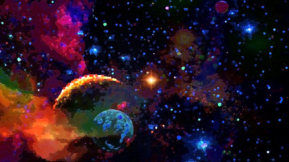 Space Fantasy Art - Planets Emerge - Don White Art Dreamer