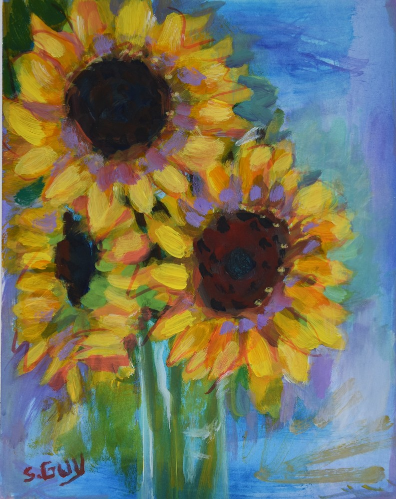 May Sunflowers Art | Sharon Guy