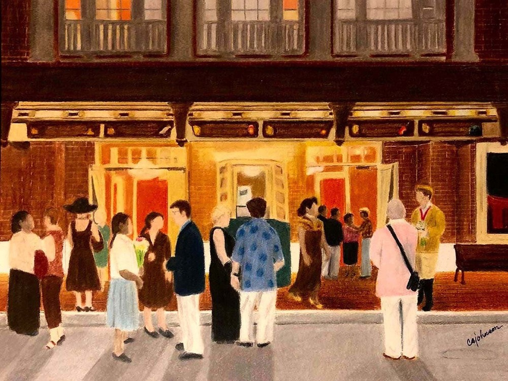 Cocoa Village Playhouse, From an Original Colored Pencil Painting