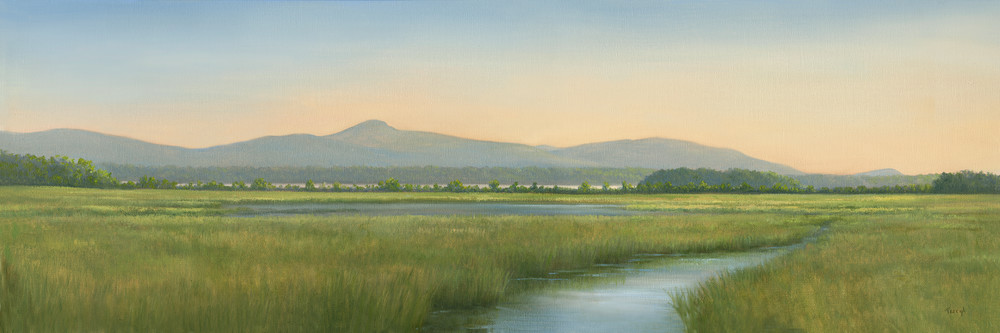 Tivoli Marshes With A View Of The Catskills Art | Tarryl Fine Art