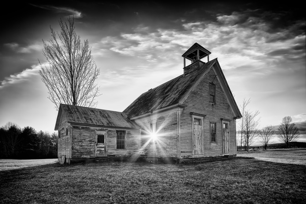 The One-Room Schoolhouse in Black & White | Shop Photography by Rick Berk