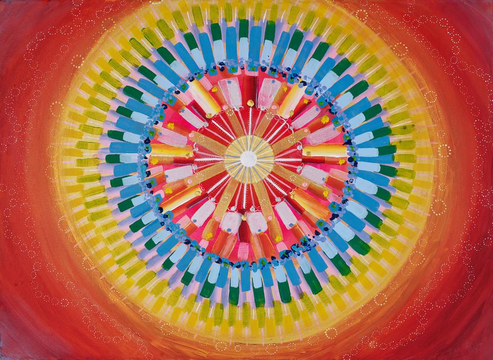 Mandala Energy Streak Print