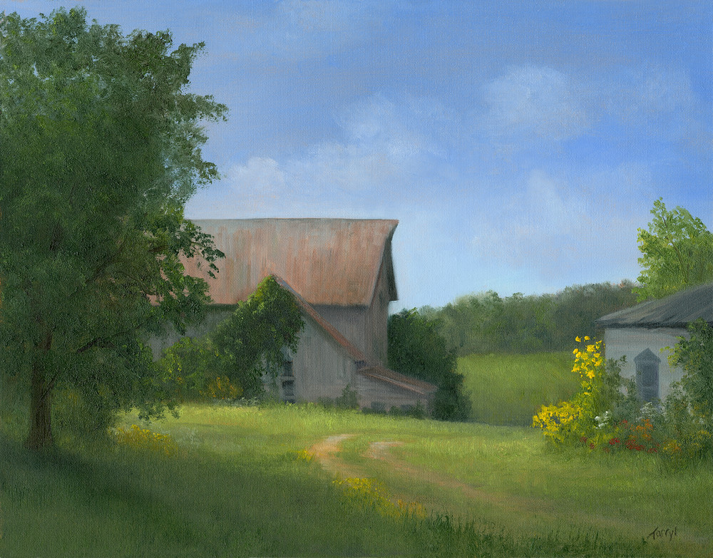 barn, barn-painting, weathered-barn