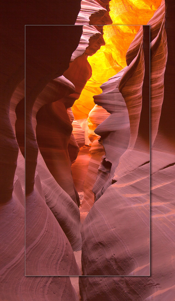 Antelope Canyon   Corkscrew Pano 3 D Photography Art | Whispering Impressions