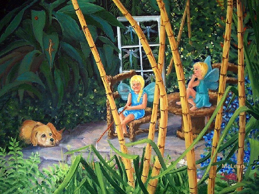 Girl Talk, From an Original Oil Painting