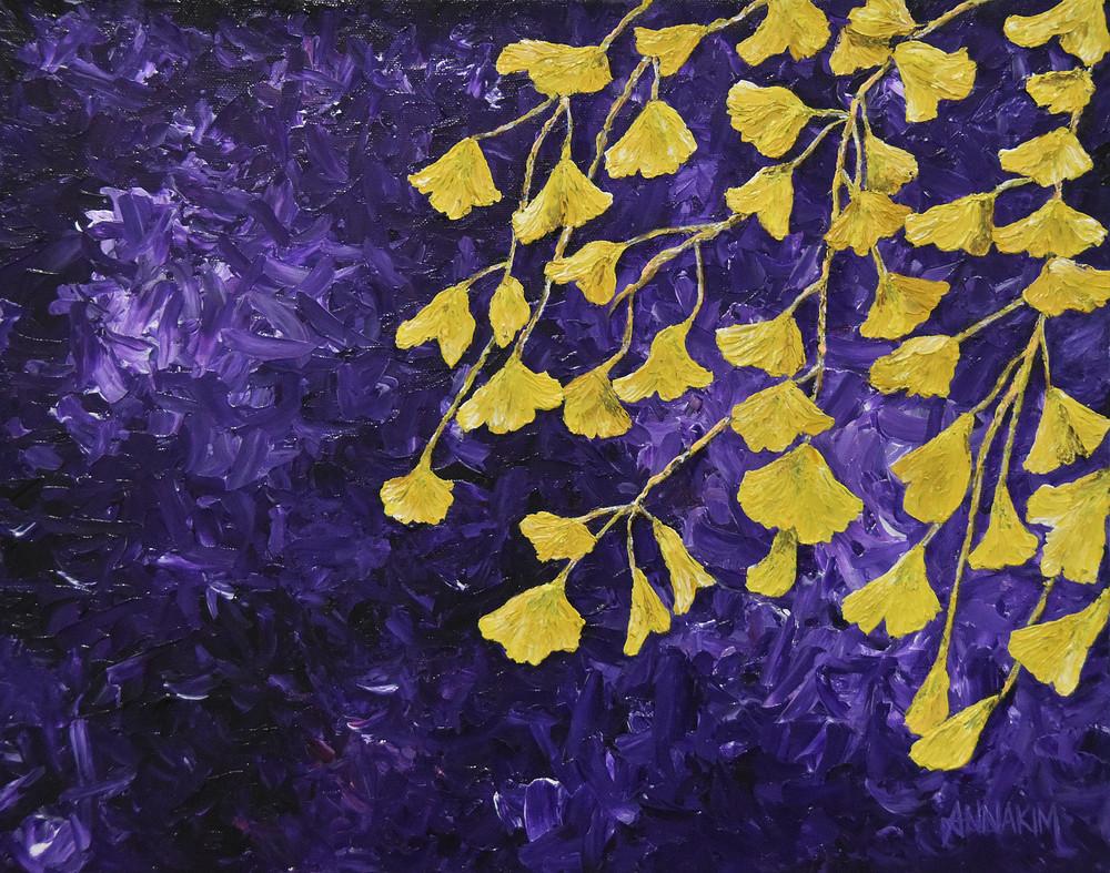 Gingko Biloba Flower Art Painting - Photo - Original Painting - Fine Art Prints on Canvas, Paper Metal and More