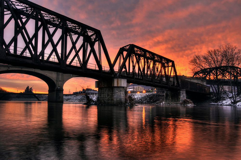 Sunrise on the Lehigh - Michael Sandy Photography
