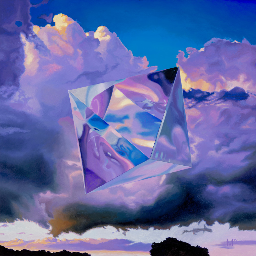 Octohedron/Air, Geometric Painting, The Art of Max Voss-Nester