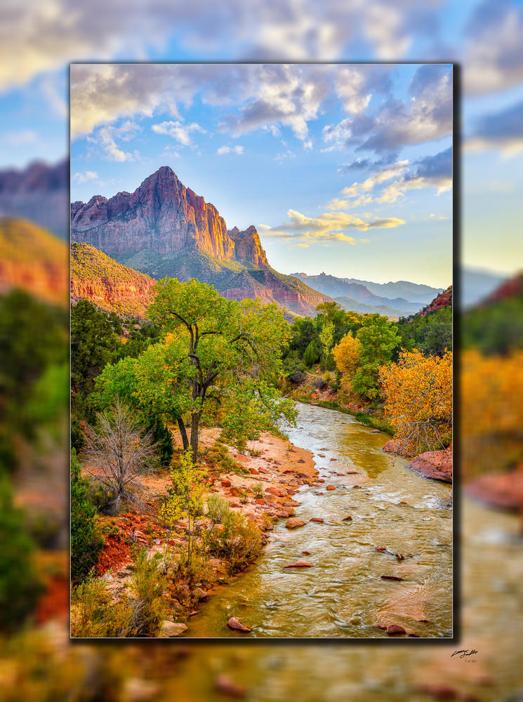 Zion   Watchman V 3 D Photography Art   Whispering Impressions