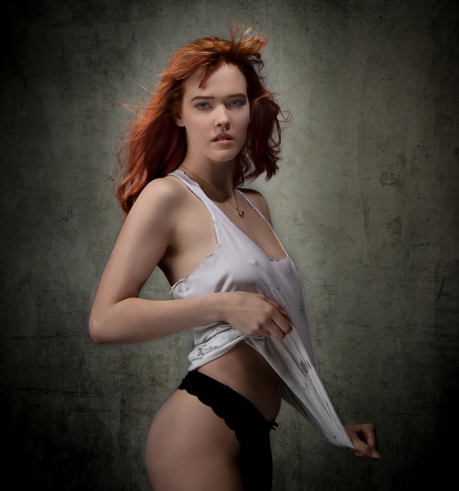 Violet In White Tank Photography Art | Dan Katz, Inc.