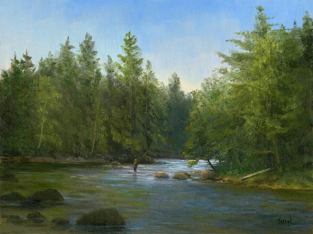 Fly Fishing The Saranac River Art | Tarryl Fine Art