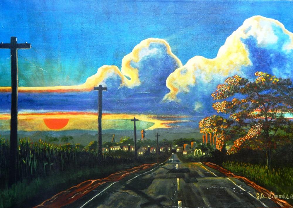 Americana At Dusk Art | John Simonis Art Gallery