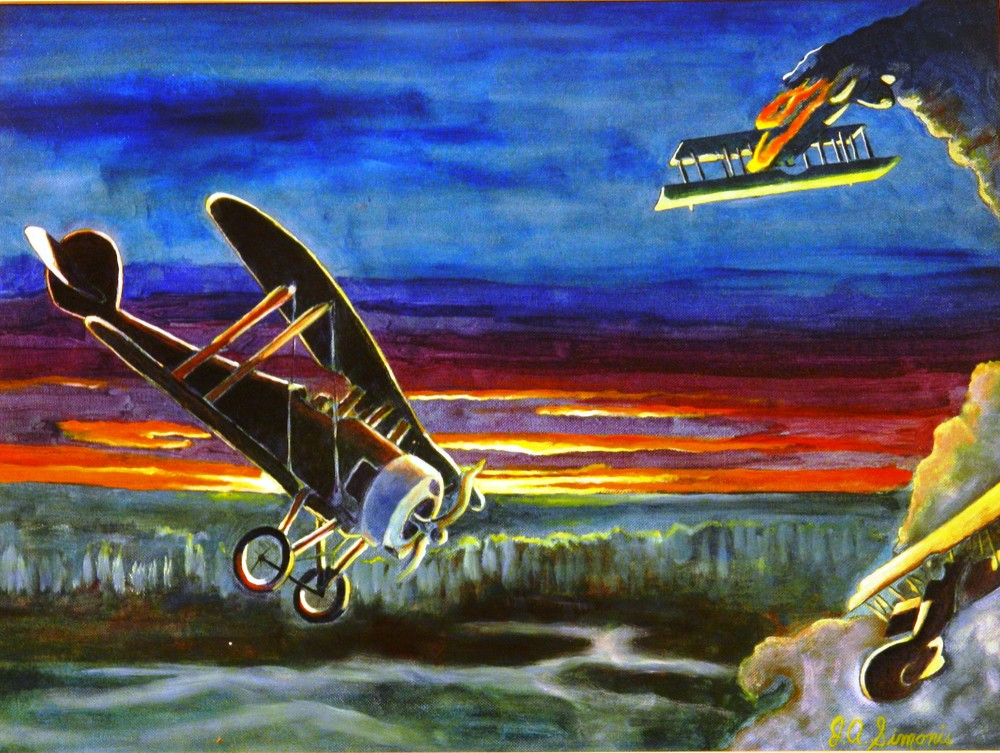 Wwi Dog Fight Art | John Simonis Art Gallery