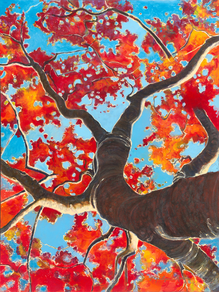 Red Oak Winter Art | Marilyn Rea Nasky Art