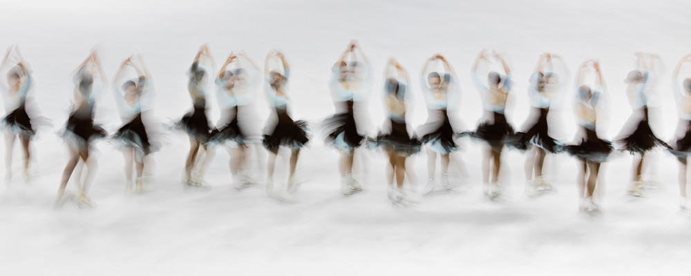 """""""Starlights Junior Whip Intersection"""" Fine Art Synchronized Skating Photograph, Figure Skaters Print, Team Ice Skating Panorama"""
