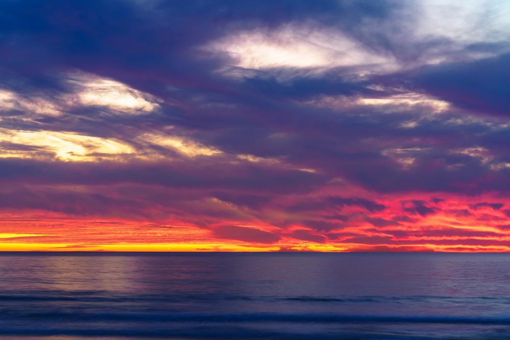 Burning Sunset In Pacific Beach, San Diego Fine Art Print Art | McClean Photography