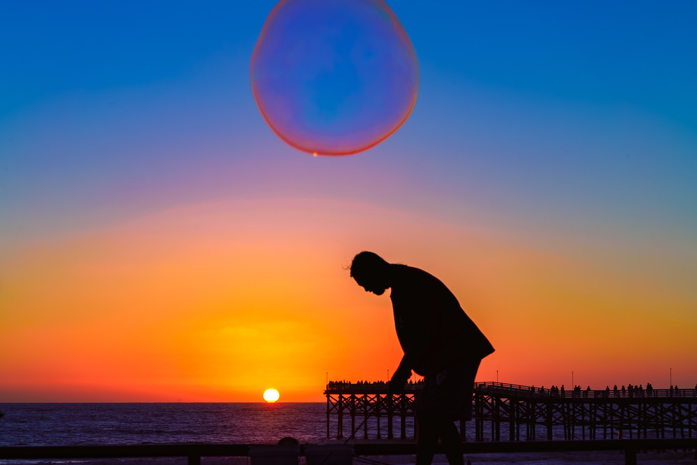 Bubble Man Photography Art | McClean Photography