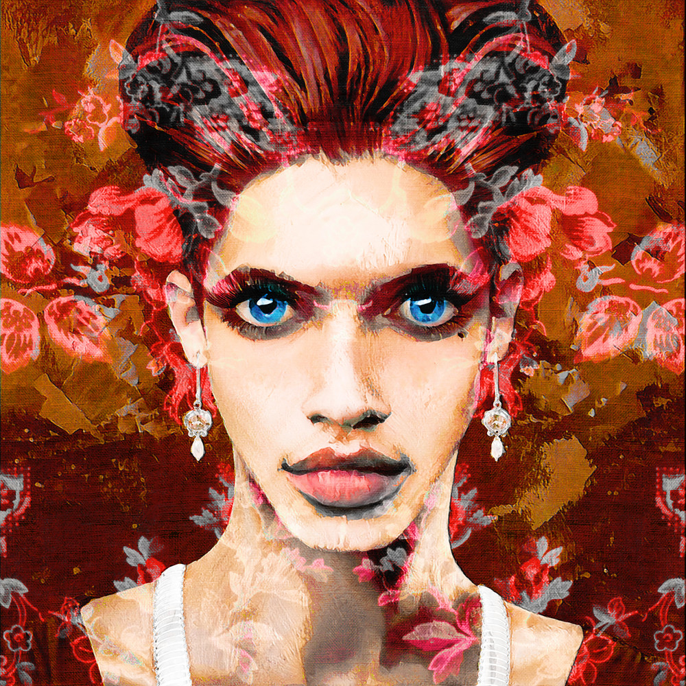 Geneva | Red Floral Art | SkotoArt