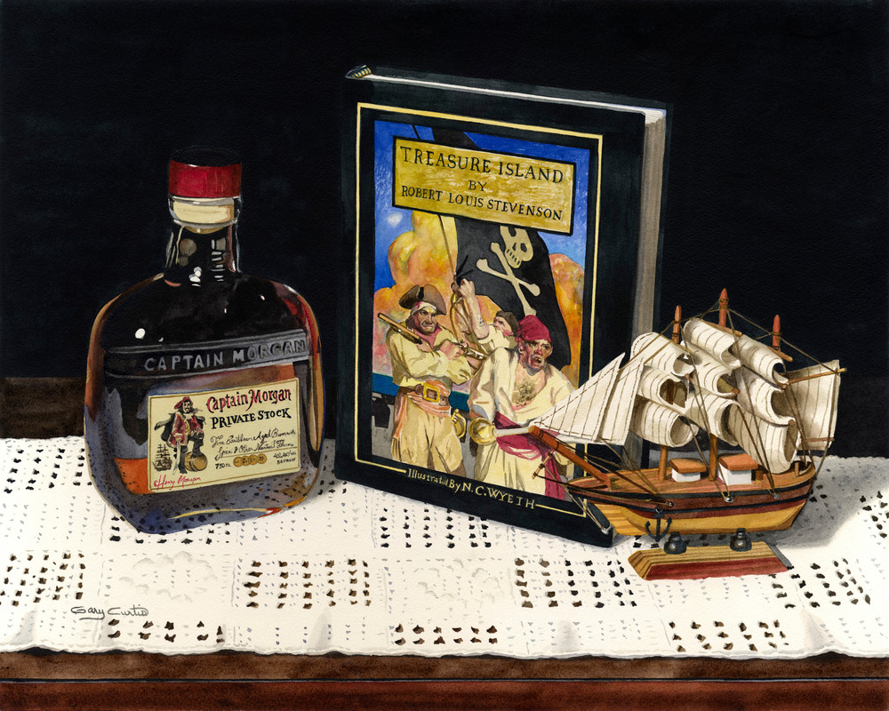 Captain Morgan Art | Gary Curtis Watercolors