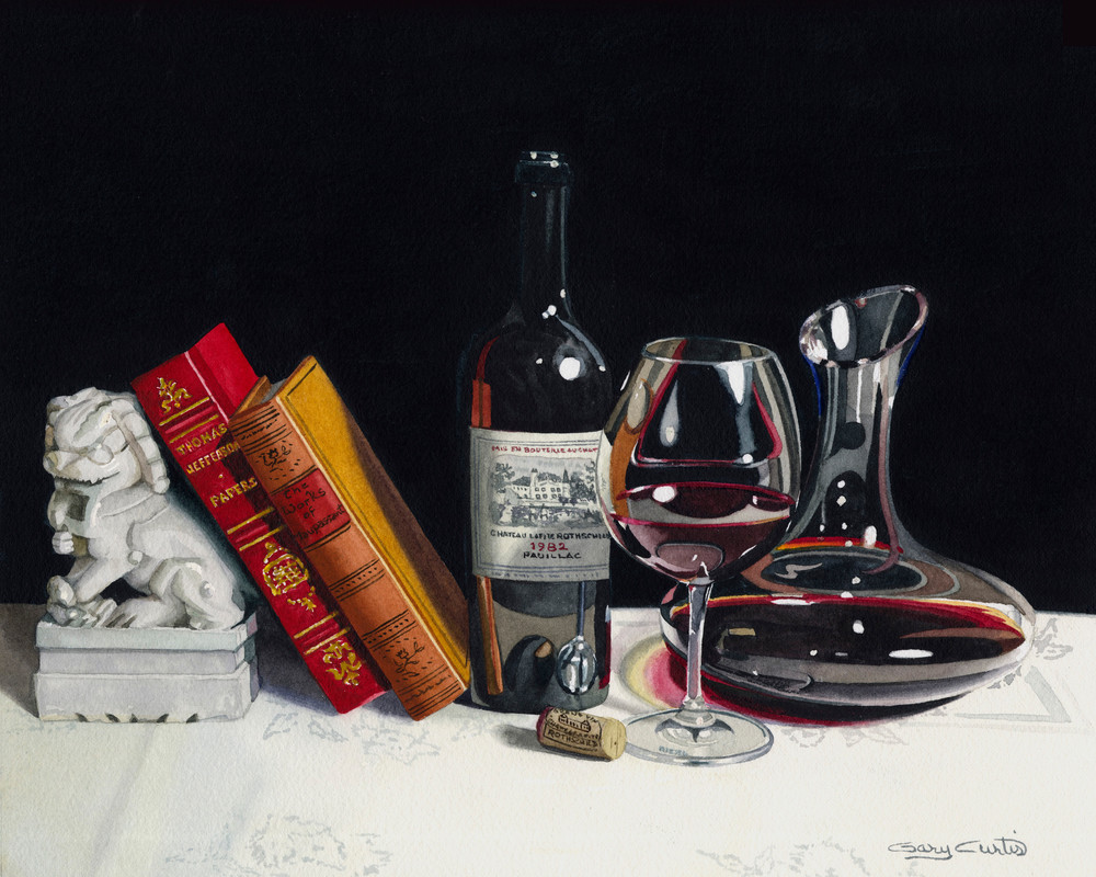 Chateau Lafite Rothschild Art | Gary Curtis Watercolors