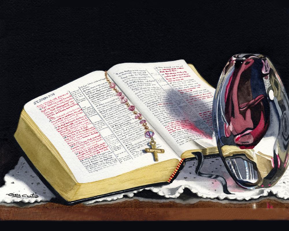 John 3 16 Art | Gary Curtis Watercolors