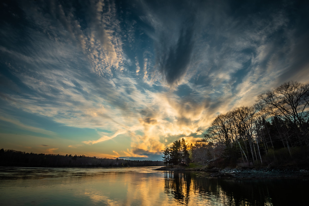 Taunton Bay Sunset Photography Art | Monteux Gallery