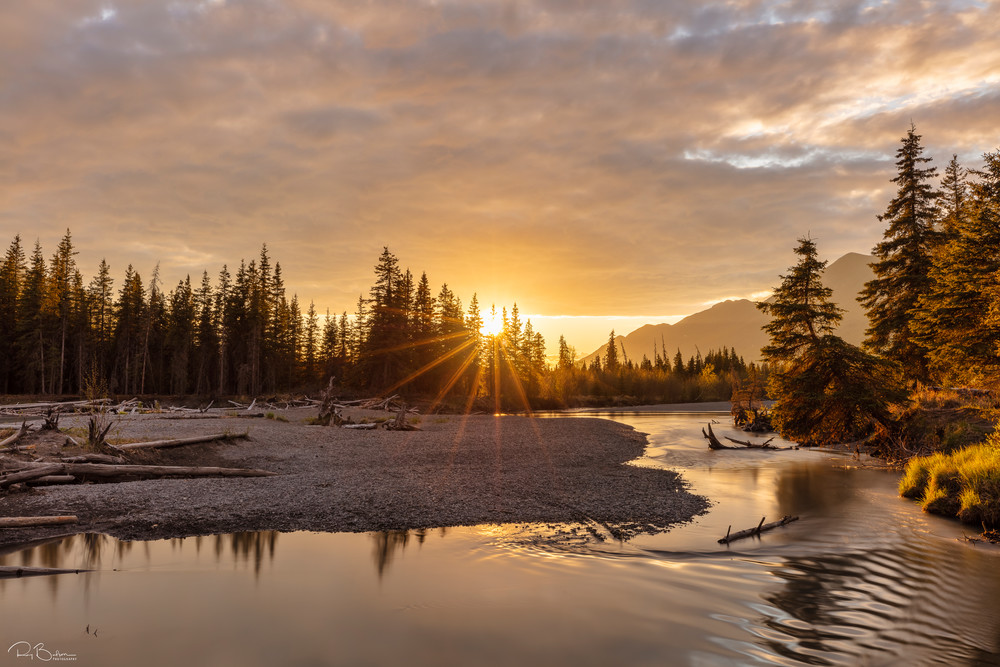Sunset along Eagle River Valley in Southcentral Alaska.