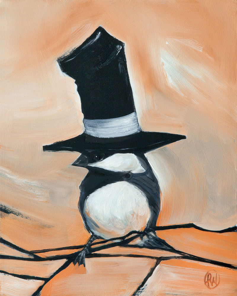 Chickadee in a Stovepipe Hat