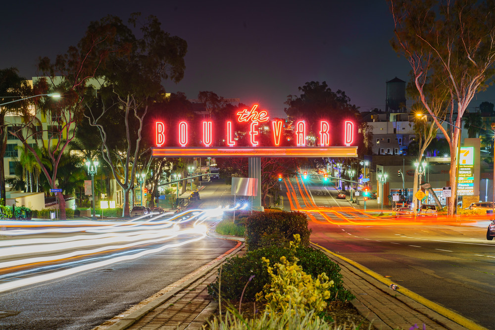 The Boulevard Sign, University Heights Wall Art Print by McClean Photography