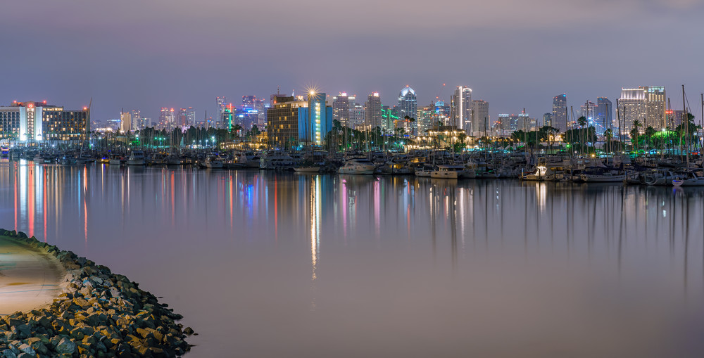 Harbor Drive View of San Diego Fine Art Print by McClean Photography