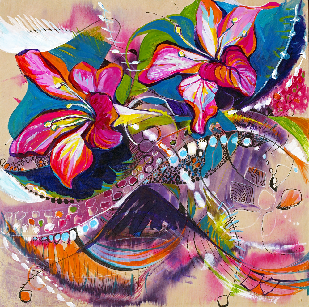 Purple Orchid Tree Road Art   Emily Tanaka - Have to Create