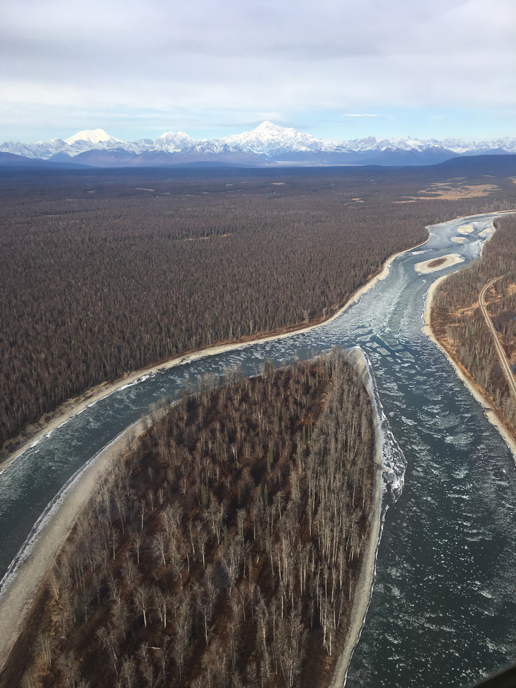 Susitna River's Curves  Photography Art   Visionary Adventures, LLC
