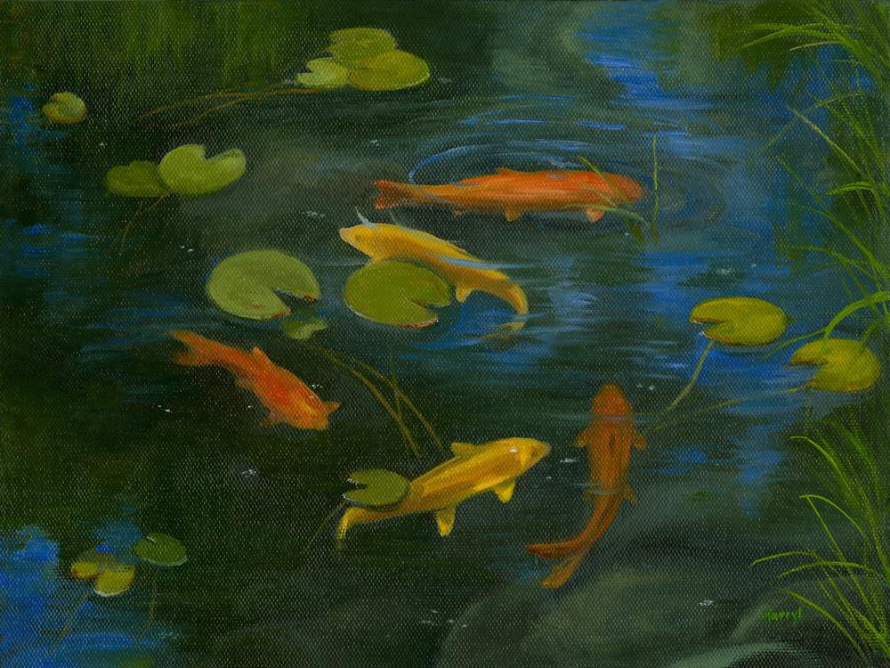 Koi Pond Art | Tarryl Fine Art