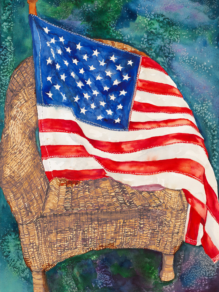 Old Glory, Original Watercolor Painting
