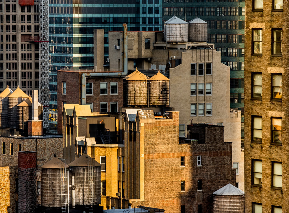 Midtown Water Tower Family, Nyc Photography Art | Ben Asen Photography