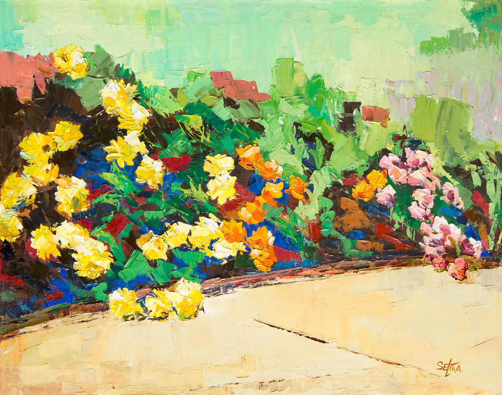 Sidewalk Flowers Art | Goldwoman Fine Art