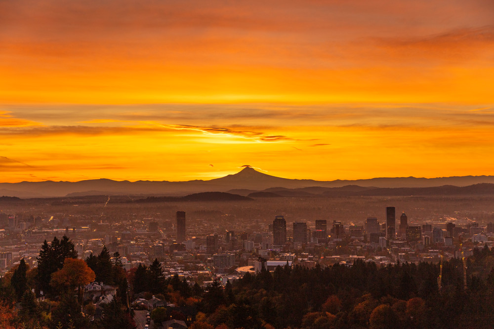Mount Hood and a Portland Sunrise