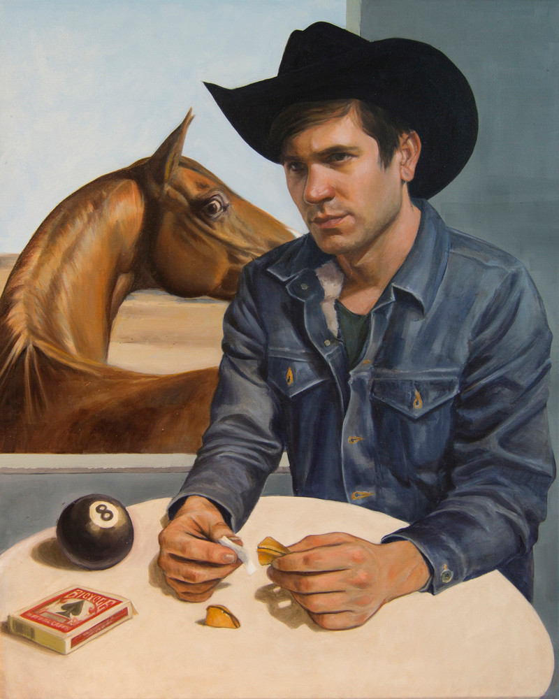 Cowboy Reads His Fortune Art | Kym Day Studio