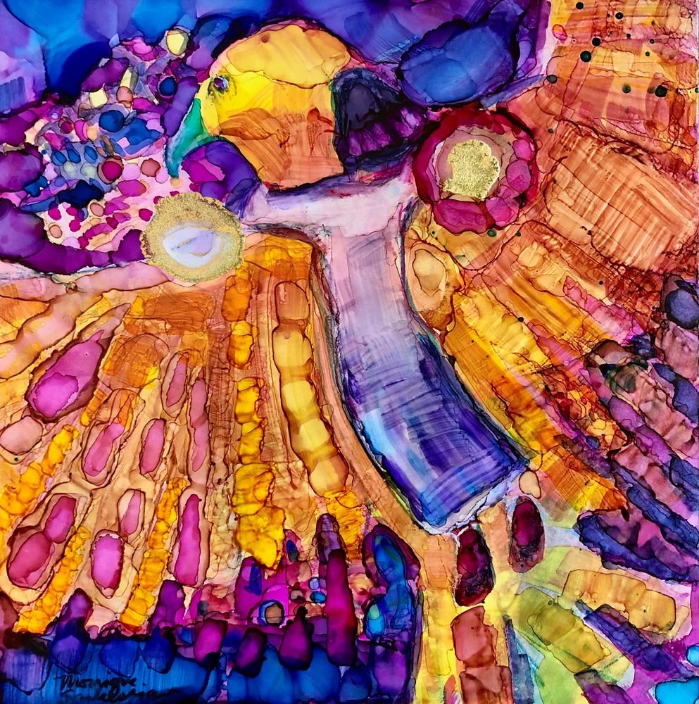 Print of prophetic art Eagle Flight 2 by Monique Sarkessian.