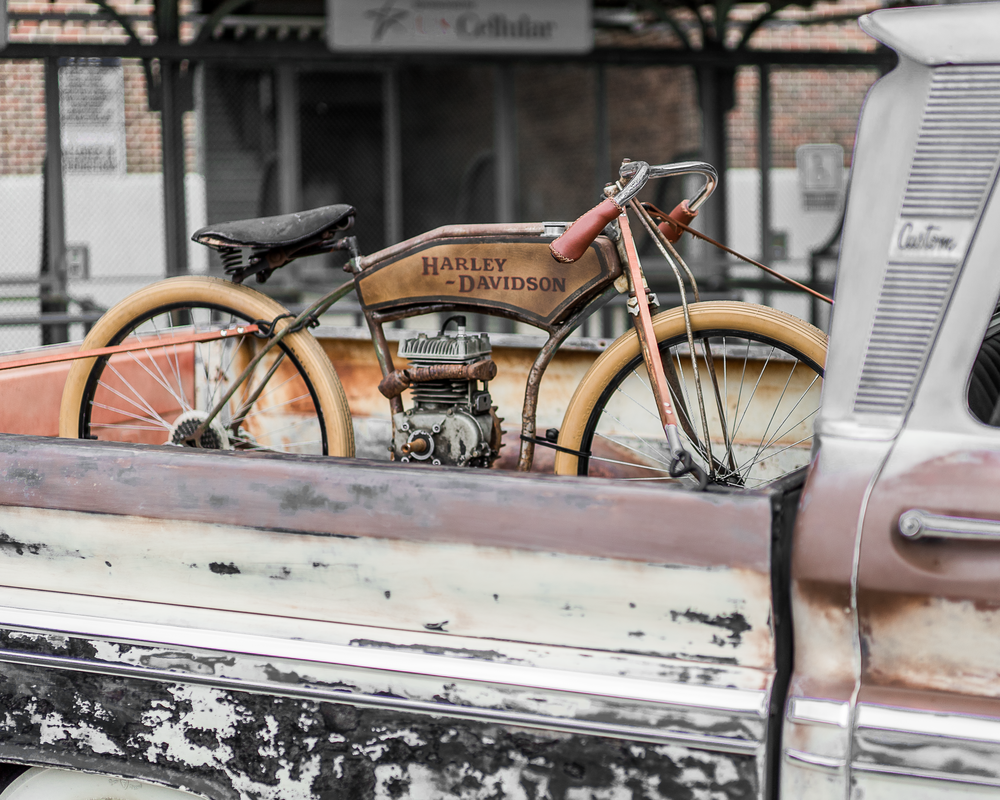 Vintage Harley 1900's Photography Art | Happy Hogtor Photography