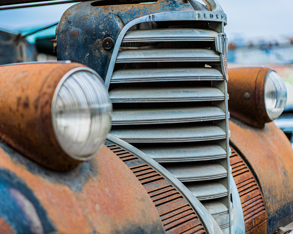 Oldsmobile Grill Photography Art | Happy Hogtor Photography