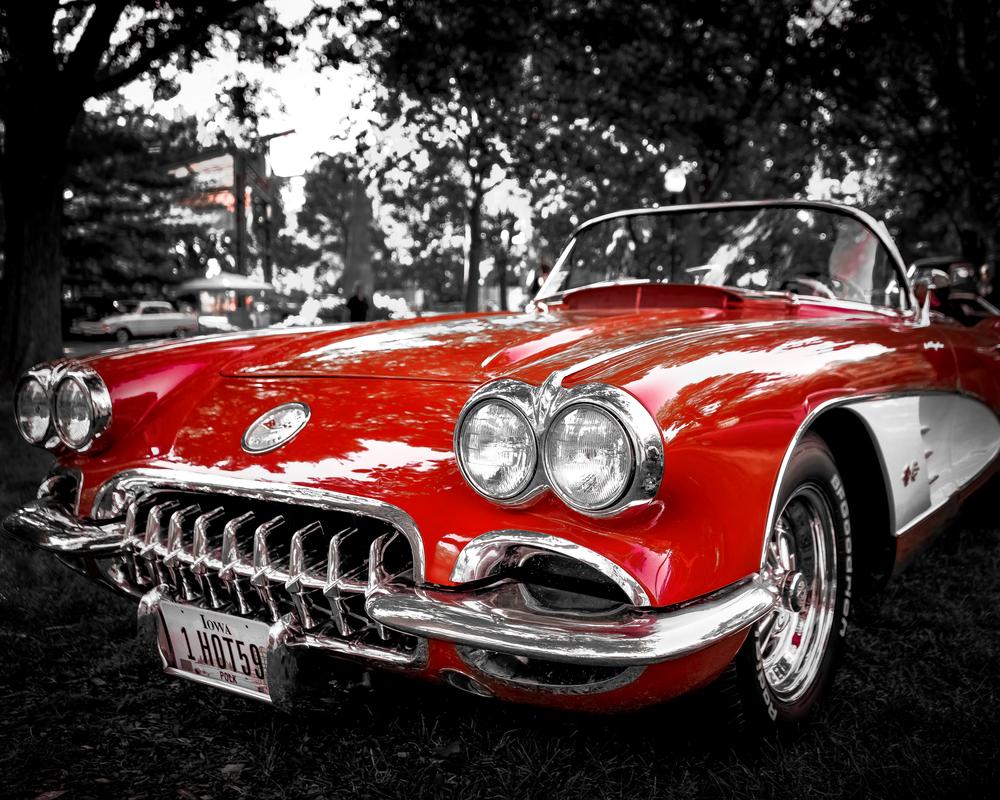 Hot 59 Corvette Photography Art | Happy Hogtor Photography