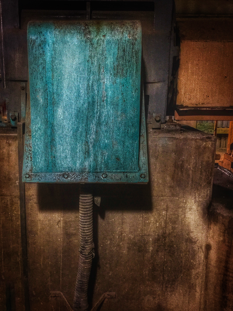 Green Industrial Box Photography Art | Happy Hogtor Photography